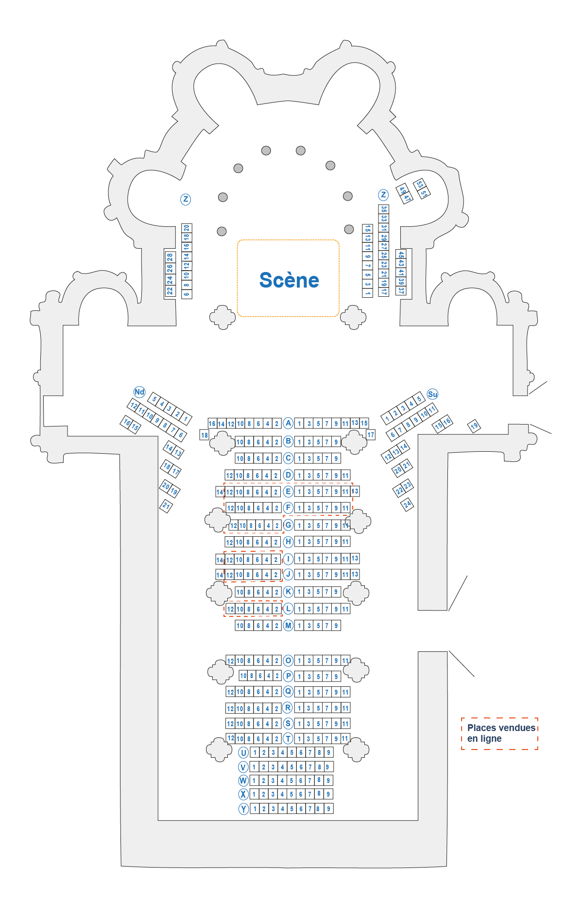 Plan des places Concert Orcival