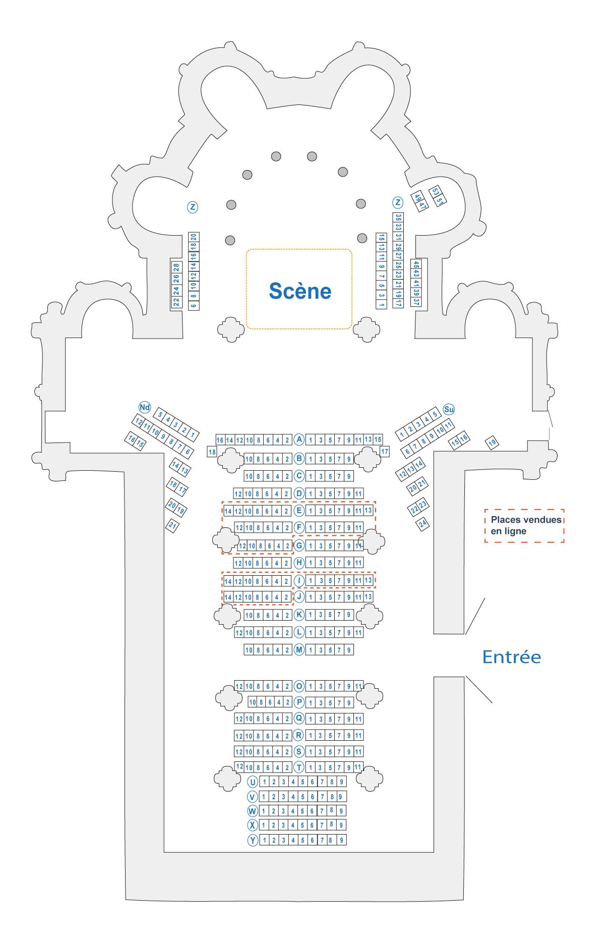 plan des places